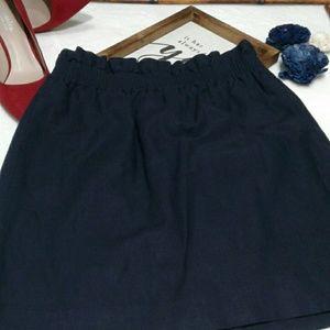 J. Crew - Navy  Linen Skirt